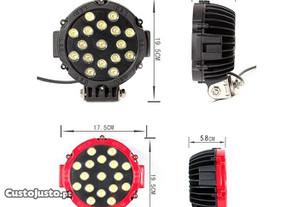 Farol LED 51W c/ acessórios de montagem