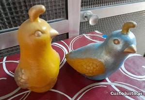 Pássaros em louça