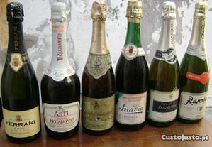 6 Garrafas de vinho espumante