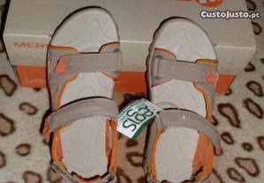 sandalias merrel - tamanho 32 - novas