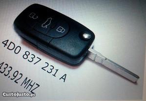 Chaves originais Audi 433 MHZ