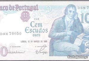 Nota Cem Escudos 1985 - Ch.8 DSM76050