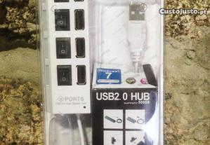 Hub USB 2.0 com 4 entradas / portas independentes