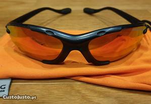 BERG - Óculos escuros laranja, lentes de cerâmica