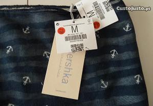 Écharpe azul e branca nova (ctt grátis)