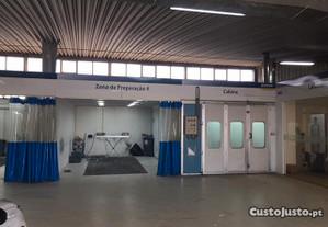 Cabine de pintura areas de preparação