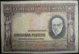 50 pesetas de 22/7/1935 M.B.C.