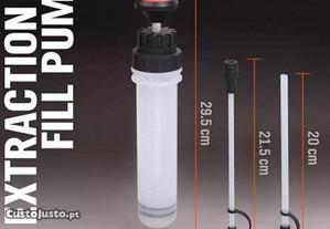 Bomba seringa de extração de fluidos, oleos