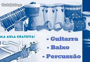 Aulas de Guitarra Eléctrica e Baixo electrico