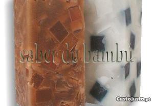 Parafina, vela - quadrada 7,5x7,5x16cm