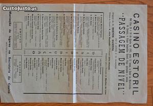 Casino Estoril - folheto publicitário - 1942
