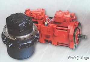 bombas hidráulicas e motores de giro