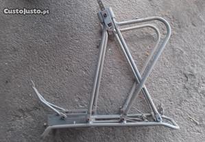 Bicicleta suporte traseiro aluminio