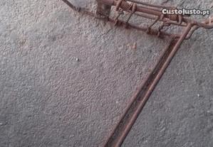 Bicicleta pasteleira suporte de carga antigo
