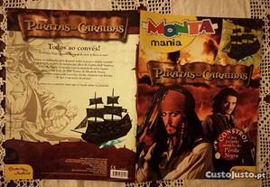 Livro 'Piratas das Caraíbas', com o