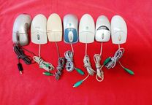 7 ratos e um microfone 6 PS2 1 USB ótico