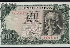 Espadim - Nota de 1.000 Pesetas de 1971 - Espanha