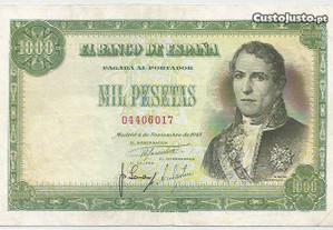 Espadim - Nota de 1.000 Pesetas de 1949 - Espanha