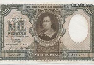 Espadim - Nota de 1.000 Pesetas de 1940 - Espanha