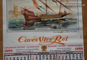 Calendário - Caves Vice-Rei - 1988