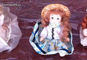 mini bonecas de porcelana antigas