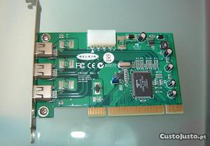 Placa Firewire 3-Port PCI card Belkin