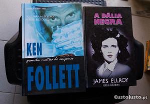 Obras de Ken Follett e James Ellroy