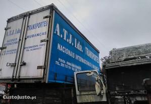 Caixa tir carrinha camião cortinas atrelado