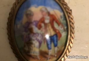 Alfinete porcelana Limoge