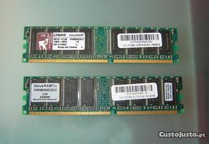 1G de memoria ( 2x 512 ) DDR - Kingston