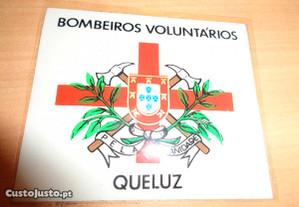 Autocolante Bombeiros Voluntários Queluz Colado