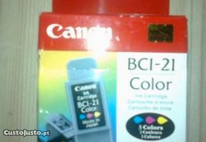 Tinteiro original canon bci-21 tricolor