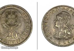 20 Centavos 1929 S, Tomé e Príncipe