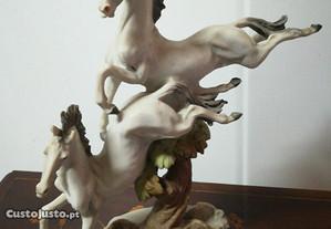 Estatueta 2 Cavalos