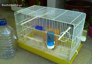 Gaiola para pássaros com acessórios incluídos!