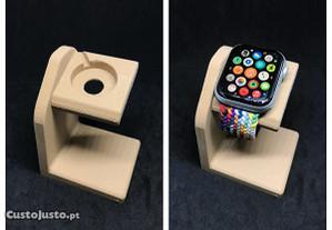 Base de carregamento / Dock carregamento para Apple Watch efeito madeira