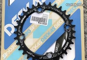 Prato pedaleiro 32t 104BCD redondo 7 a 12s