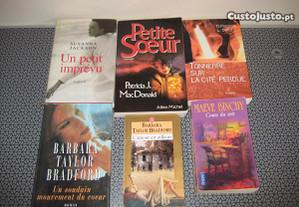 Lote Livros Romances em Francês - P. Grátis.