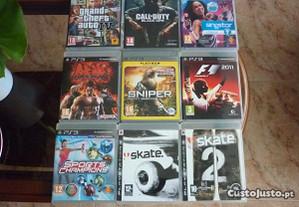 9 jogos de PS 3 ó; troco por portátil
