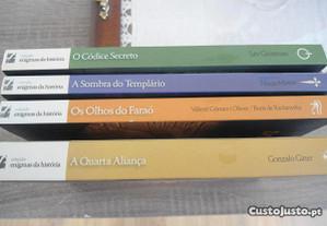 Colecção Enigmas da História-lote com 4 livros