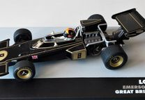 Miniatura 1/43 LOTUS 72D (GP Grã Bretanha 1972) Emerson Fittipaldi