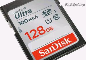Cartão memória SD 128gb
