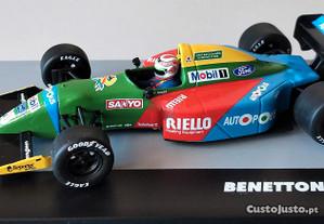 Miniatura 1/43 BENETTON FORD B190 (GP Japão 1990) Nelson Piquet