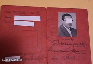 Documento antigo da Junta Nacional da Cortiça