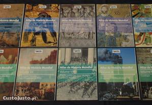 Livros Atlas da História Mundial Courrier Internacional 10 volumes Completo