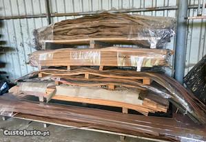Lote varias folhas madeira