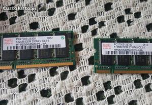 memoria ram 512 mb para computador portatil / pc