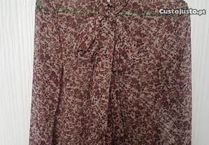 Blusa Fluída Zara Woman com laço na frente