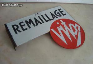 Placard publicitário a utensílios de esmalte marca Vitos