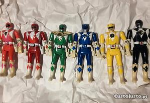 6 Power Rangers da Bandai de 1993 Raros